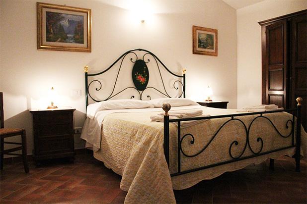 Camera dell'appartamento al primo piano dell'Agriturismo Il Capannone